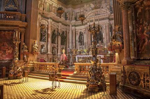 5 maggio 2018 - Il busto di San Francesco Caracciolo presente alla processione dal Duomo di Napoli a